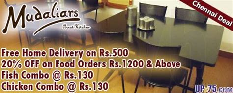 mudaliars arcot kitchen chennai outlets deals discounts