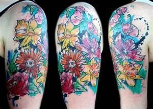 31+ Watercolor Daisy Tattoos