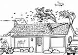 Coloring Kleurplaat Tsunami Hurricane Flood Storm Hongersnood India Pages Edupics sketch template