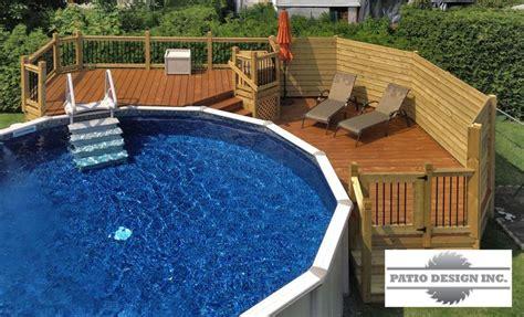1000 ideas about above ground pool decks on ground pools above ground pool