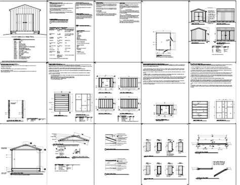 10x14 Shed Plans Pdf by 10 X 12 Storage Shed Plans How To Build Diy By