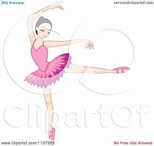 Cartoon Of A Ballerina Girl Dancing - Royalty Free Vector ...