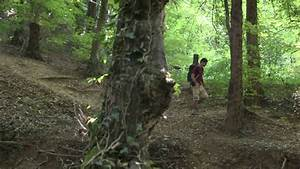 Man Running Away In The Forest Stock Footage Video 2907001 ...