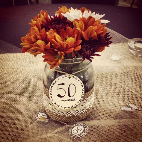 wedding anniversary party centerpiece projects