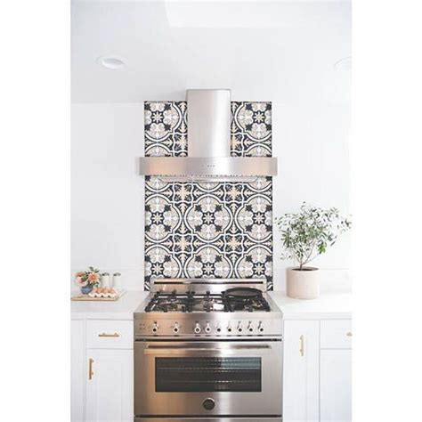 Awesome Tile Stickers Removable Vinyl Wallpaper Designs Solution For Renters by Kitchen And Bathroom Splashback Removable Vinyl