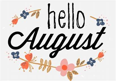 August Hello Month Clipart Banner Welcome Birthday