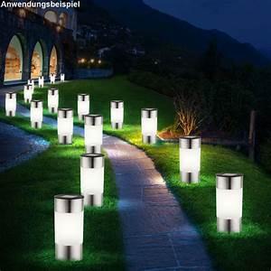 Garten Stehleuchten Aussen : 6er set led solar lampen edelstahl au en garten weg ~ Lateststills.com Haus und Dekorationen