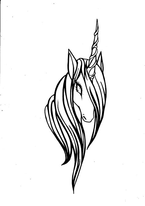 unicorn head by SylphOfSilence on DeviantArt | Unicorn tattoos, Body art tattoos, Unicorn drawing