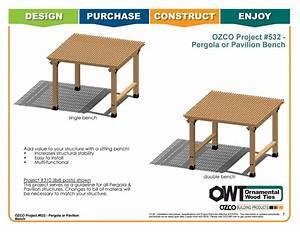 Ozco Project  532 Pergola Or Pavilion Bench By Ozco