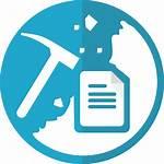 Mining Data Strategy Marketing Icon Text Company