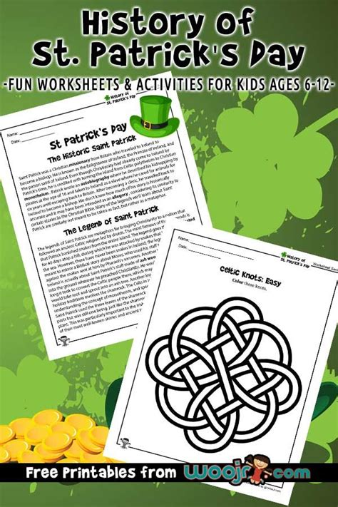 history  st patricks day lesson plan worksheets