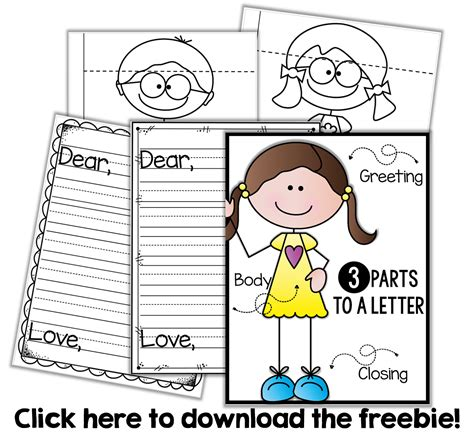 friendly letter writing  freebie reading