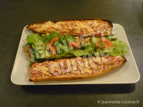 jeannette cuisine flamenkuche sur baguette entrée jeannette cuisine