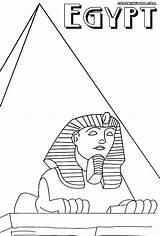 Egypt Coloring Pyramid Colorings sketch template