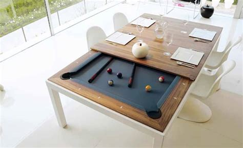 billiards balls turn your dinner table into a pool table better living