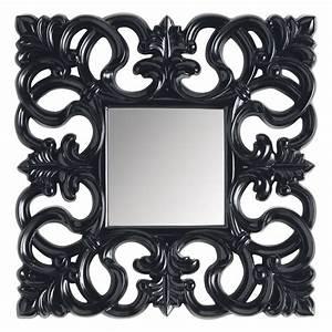 Miroir Baroque Noir : miroir rivoli carr noir maisons du monde ~ Teatrodelosmanantiales.com Idées de Décoration
