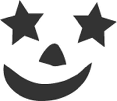pumpkin stencil starry eyes happy face