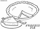 Pie Coloring Pages Piece Print Colorings sketch template
