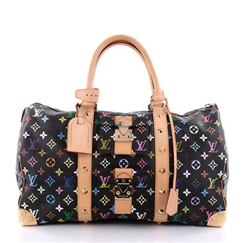 buy louis vuitton keepall bag monogram multicolor  black