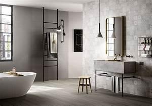Carreaux De Ciment Salle De Bain : 35 salles de bains design elle d coration ~ Melissatoandfro.com Idées de Décoration
