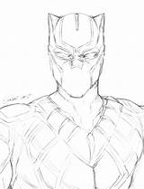 Panther Coloring Pages Marvel Drawing Printable Panthers Template Getcolorings Sketch Getdrawings Football sketch template