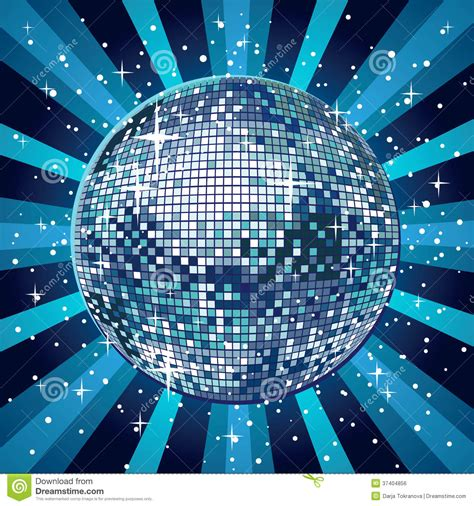 blue disco ball royalty  stock image image
