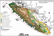 Area detail maps of thetis island, gulf islands, pacific ...