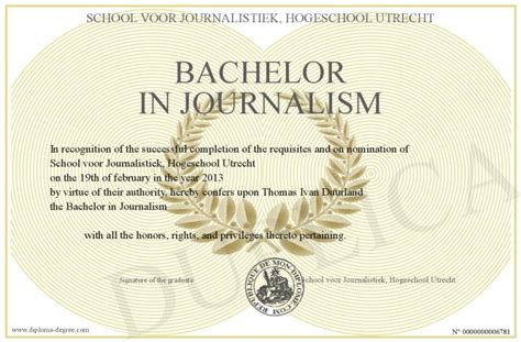 Journalism Degree by Bachelor In Journalism