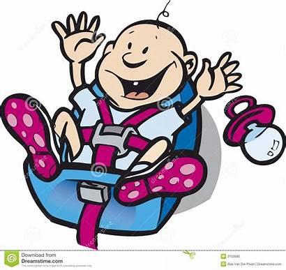 Seat Clipart Safety Illustration Happy Child Belt