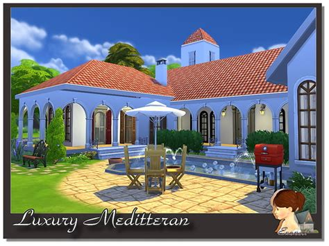 Luxury Meditterane House By Evanell At The Sims Resource