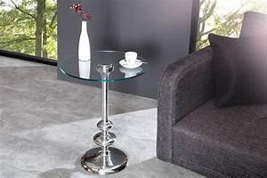 Beistelltisch Silber Rund : filigraner beistelltisch flute rund silber glasplatte hochwertige metall aluminium legierung ~ Indierocktalk.com Haus und Dekorationen