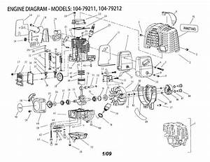 Wiring Diagram  14 Craftsman Weed Eater Parts Diagram