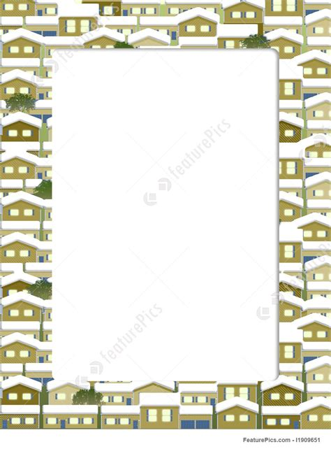 illustration  snow houses border