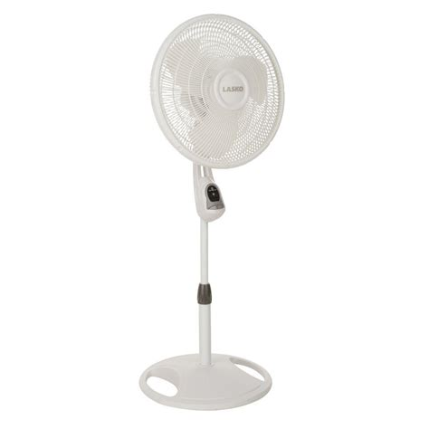 metal fans at home depot lasko 16 in remote control stand fan 1646 the home depot