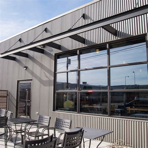 metal siding panels  exterior  interior walls  bridger steel