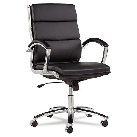 Napoli Black Modern Mid Back Office Chair   Eurway