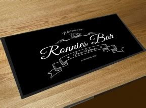 Personalised Boat Flags Uk by Personalised Bar Runner Pub Bar Cocktail Club Counter
