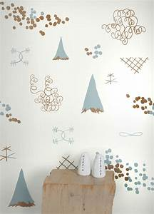 Family Reunion Wallpaper in Copper and Patina design by ...