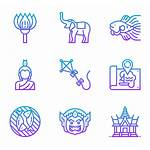 Thailand Symbols Packs Icon Icons Buda Iconos