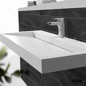 Lavabo Rectangulaire étroit : surface solide long et troit salle de bains vier lavabo ~ Edinachiropracticcenter.com Idées de Décoration