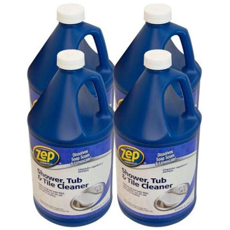 zep ceramic tile cleaner zep 128 oz shower tub and tile cleaner pro pack of