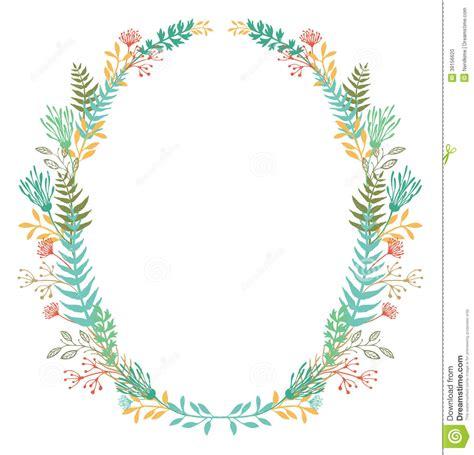 card  frame  flowers  ferns stock vector image