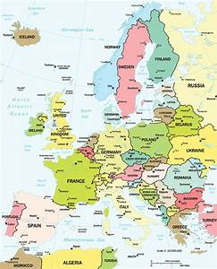 Map of Europe Countries | Continental Region | The Maps of ...