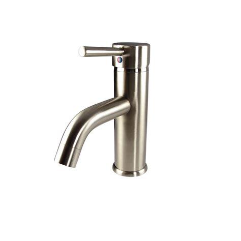 brushed nickel bathroom faucets home depot fresca sillaro single 1 handle low arc bathroom