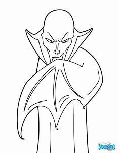 Dessin Halloween Vampire : coloriages vampire myst rieux ~ Carolinahurricanesstore.com Idées de Décoration