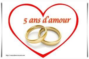 vœux anniversaire de mariage 5 ans texte carte invitation sms pour voeux d 39 anniversaire - 5 Ans De Mariage