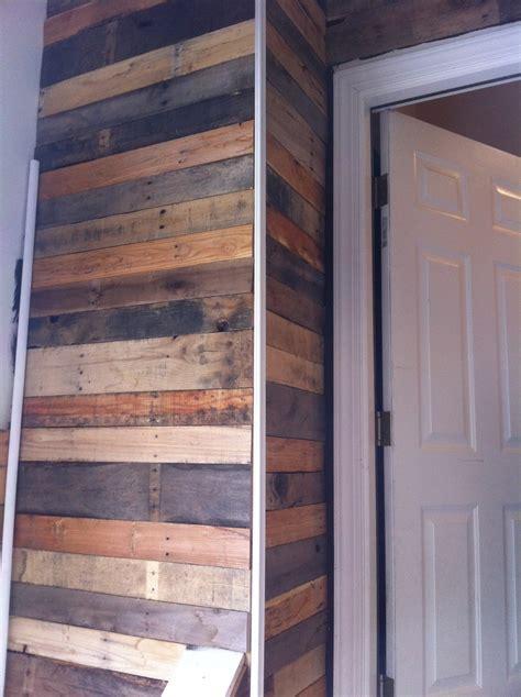 heres  corner   wood pallet wall   trim