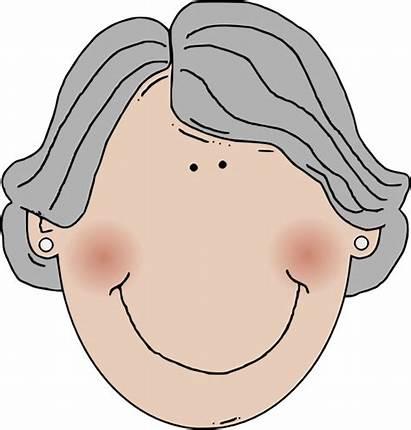 Hair Gray Clipart Woman Grey Clip Clker