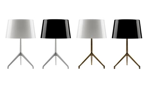 bathroom designer lumière table l black bronze leg by foscarini