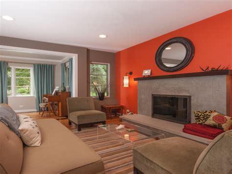 accent decor  living room living room  orange